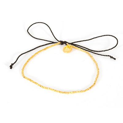 Bracelet perle argent plaqué or