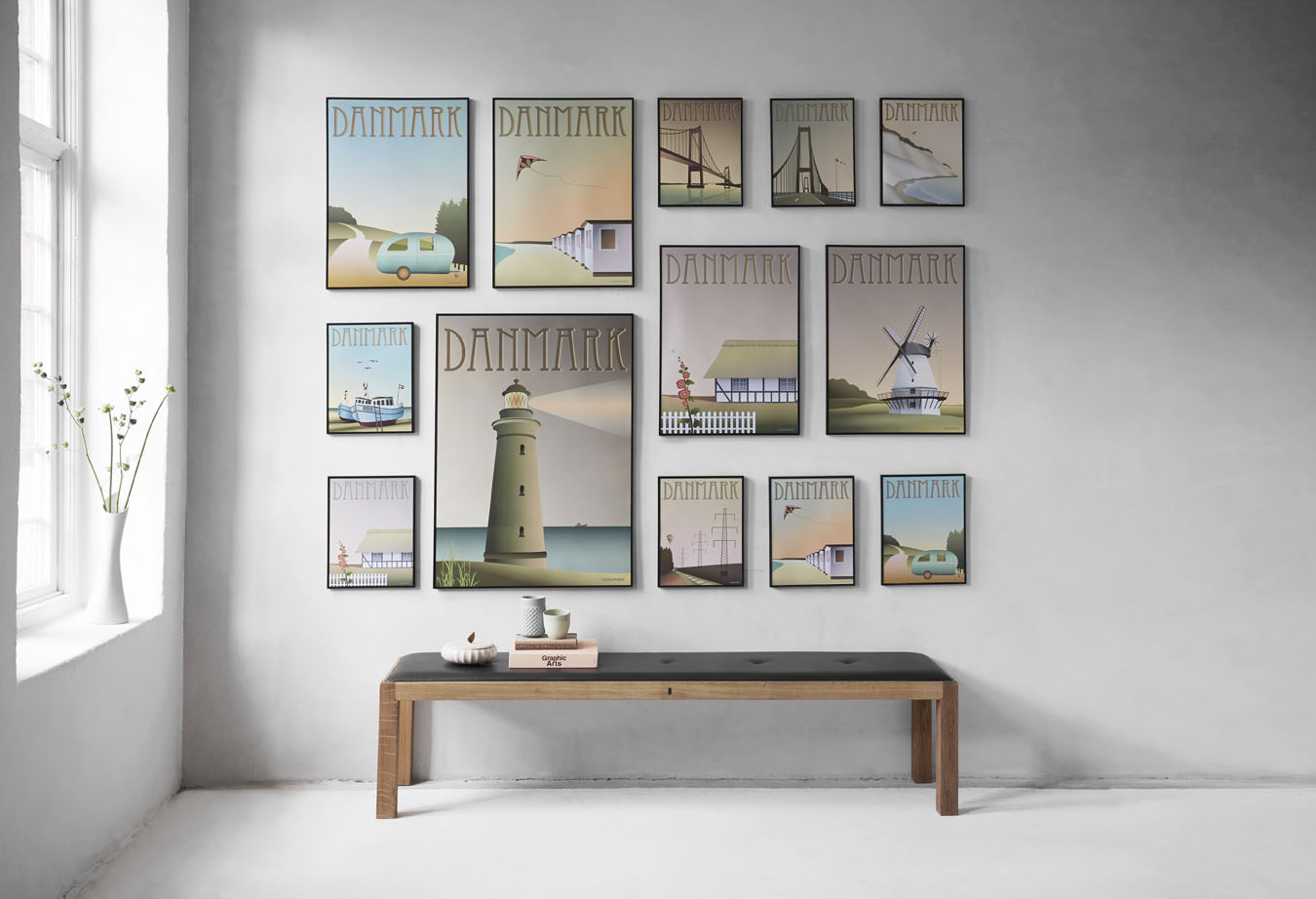 Vissevasse les affiches scandinaves au style retro for Affiches scandinaves