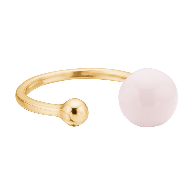 Bague 2 Balls argent plaqué or et rose pâle
