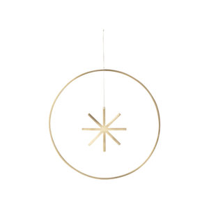 Winterland Brass star large Ferm Living