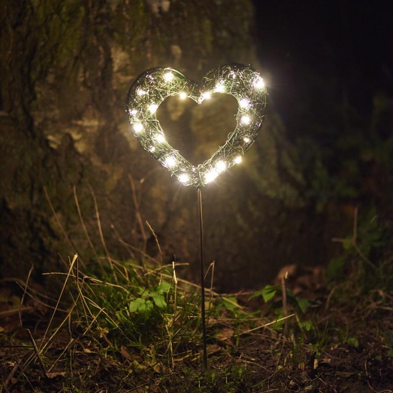 C ur garden 24 ledusage int rieur et ext rieurgarden heart for Nave luminaire exterieur