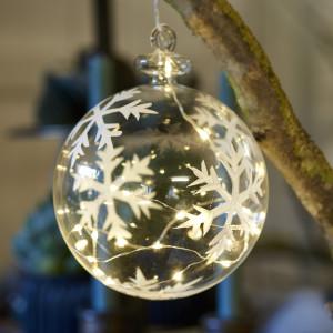 73055 Snowflake Ball 10cm