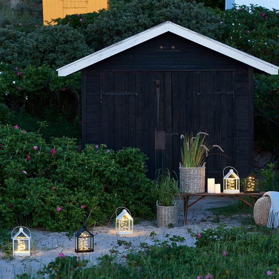 Lanterne lumineuse 30 ledblanc h 30 cmlauritz sirius for Nave luminaire exterieur